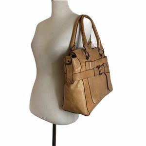 Frye Kayla Knotted Satchel Genuine Leather Tote